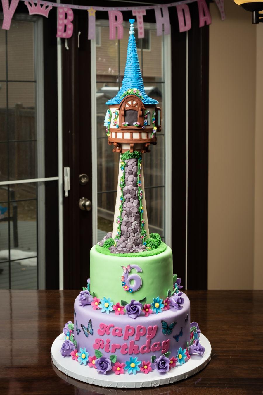 Brilliant Rapunzel Birthday Cake Cakecentral Com Funny Birthday Cards Online Elaedamsfinfo
