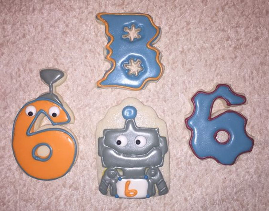 Robot Birthday Cookie Set on Cake Central