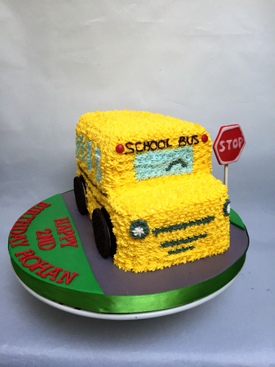 School Bus Birthday Cake Cakecentral