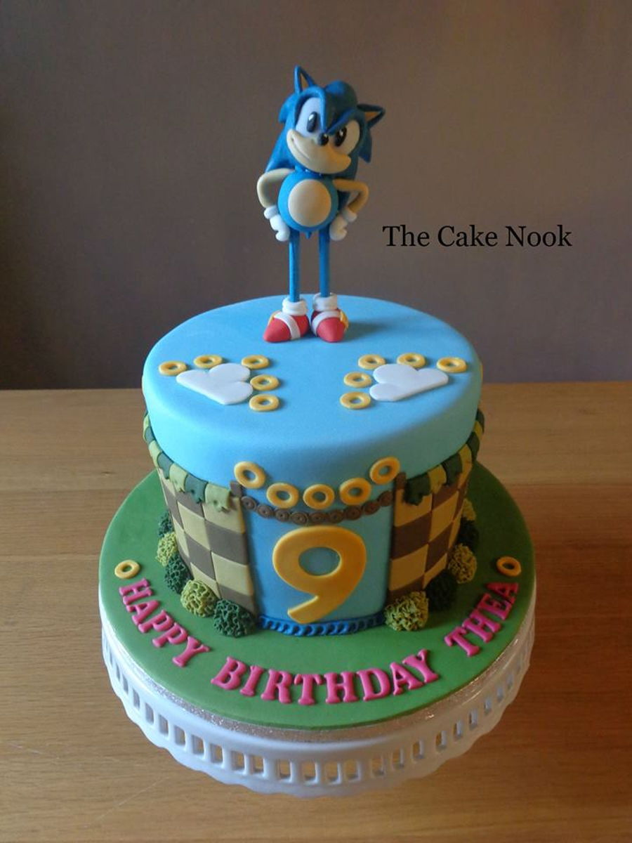 Marvelous Sonic The Hedgehog Cake Cakecentral Com Funny Birthday Cards Online Bapapcheapnameinfo