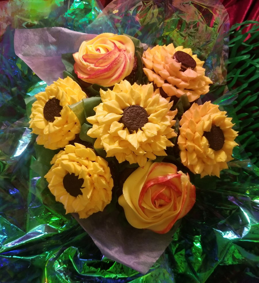 Sunflower Bouquet on Cake Central