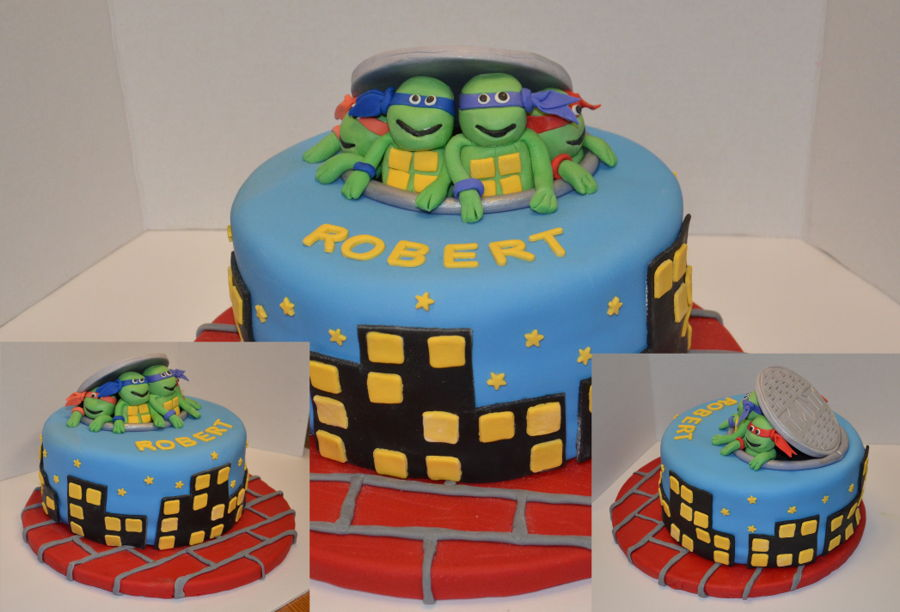 Teenage Mutant Ninja Turtle Cake - CakeCentral com