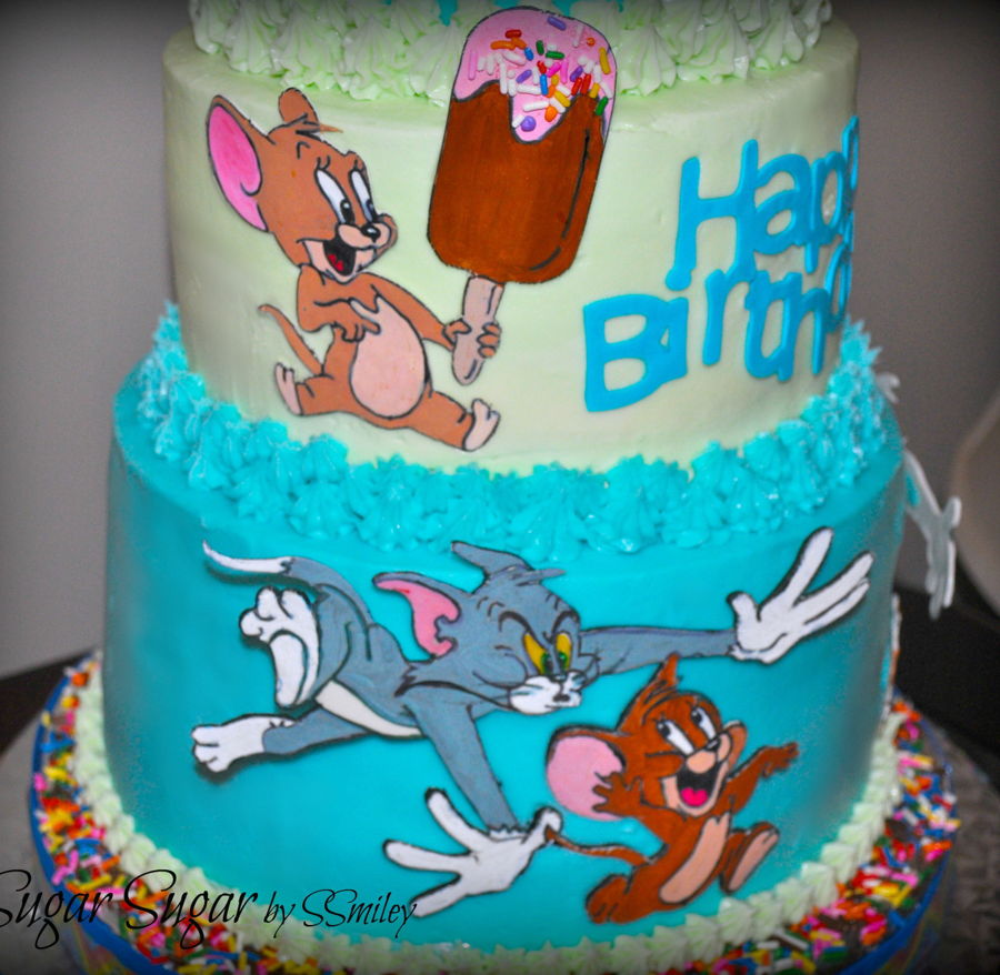 Astounding Tom Jerry Birthday Cake Cakecentral Com Funny Birthday Cards Online Alyptdamsfinfo