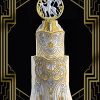 "Art Déco Gatsby Cake My cake was inspired by the dresses and the artwork of the Art Déco, the period when ""The Great Gatsby"" took..."