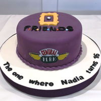 "Nadia's Friends Theme 16Th Birthday Cake This cake was made for Nadia who is an avid fan of ""Friends"" TV series. The cake was a surprise for Nadia...presented to her by..."