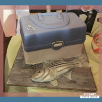 Tackle Box Tackle box and fondant striped bass