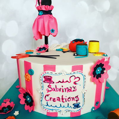 Sewing/tailor Themed Cake