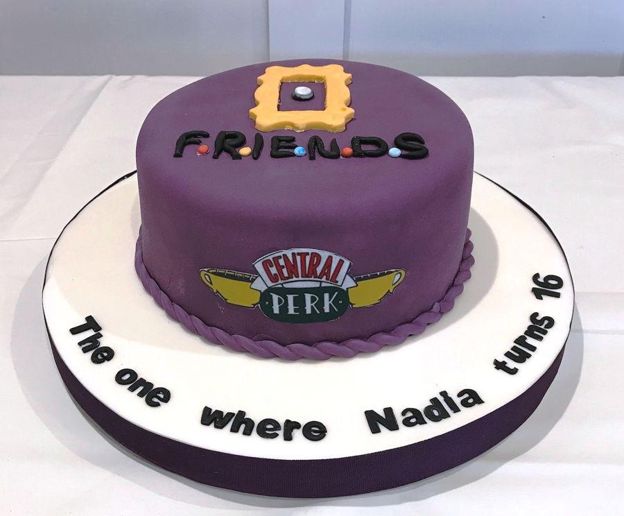 Nadia's Friends Theme 16Th Birthday Cake - CakeCentral.com