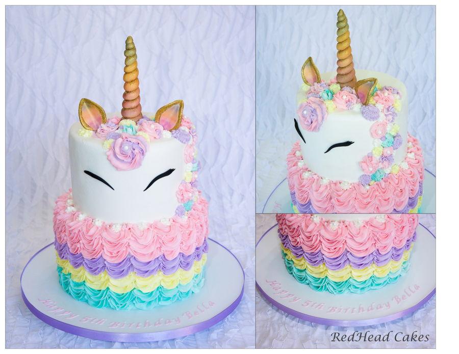Cool Unicorn Birthday Cake Cakecentral Com Birthday Cards Printable Inklcafe Filternl