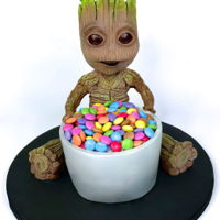 Baby Groot Guardians Of The Galaxy Cake Baby Groot guardians of the galaxy cake