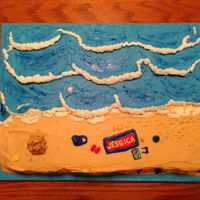 Beach Cake For Jessica 2018 The beach is my daughter Jessica's favorite place to be with her dog Jasmine so I thought she would enjoy this cake. If you look...