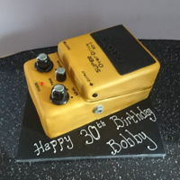 Boss Guitar Pedal 30th birthday Boss guitar pedal cake