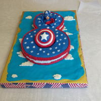 Captain America For Cameron 2017 I made this for my grandson's 8th birthday.