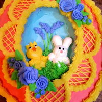 Easter Cake My spin on a Panorama Sugar Egg but a cake