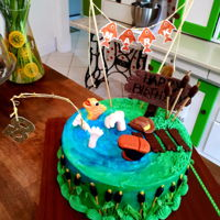 Fisherman Birthday Cake - 50Th 50th Birthday Cake for a man who likes to fish