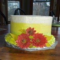 Gerbera Birthday Cake This was a very last minute request by my daughter for a friend's birthday. I was told to do something simple as they were just...