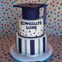 Graduation Cake I made this for my son's H.S. graduation party. It's gluten-free lemon with lemon ganache and lemon filling. Thanks for looking...