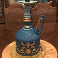 Hookah Cake Cake made for birthday party based on client design.