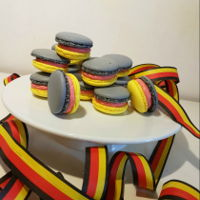 Macarons Macarons with german flag colours for a soccer world cup party.