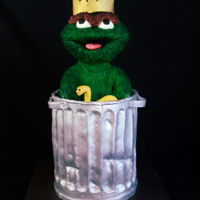 Oscar The Grouch Cake All hand sculpted, over 24 inches tall. Made with cake & modeling chocolate.