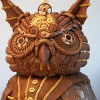 Owl Cake 75th Birthday Cake for my Dad. Combination of modelling chocolate and fondant decor. This was done a few years ago, but I can't seem...