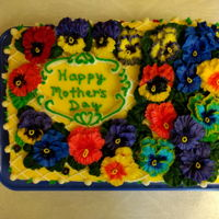 Pansies For Randi 2018 Happy Mother's Day Lemon Cake with Lemon Cream Cheese Buttercream and Lemon Pudding Cream Filling.