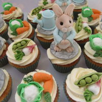 Peter Rabbit Baby Shower Cupcakes Peter Rabbit baby shower cupcakes