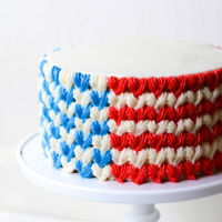 Red White And Blue Flag Cake red white and blue flag cake for fourth of july - vanilla cake filled with whipped cream , blueberries, and strawberries