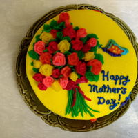 Roses And Butterflies For Mom 2018 - Happy Mother's Day! Lemon Cake with Lemon Pudding Cream Filling. It doesn't matter what flavor for Mom. As long as it has butterflies and roses! Happy...