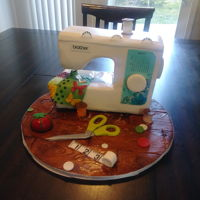 Sewing Machine Cake Sewing machine cake made for a coworkers mother. Not as easy as it looked on Pinterest!