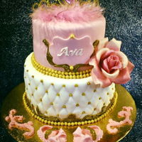Sweet Little Princess Baby Shower Cake 2 tiered princess cake. Homemade fondant cake