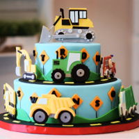 Truck Love This cake was created for Icing smiles! All elements where hand cut and are edible.