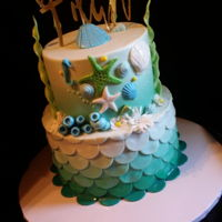 Under The Sea Baby Shower Baby shower cake with under the sea theme