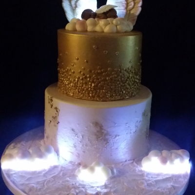 Angel Cake Decorating Photos