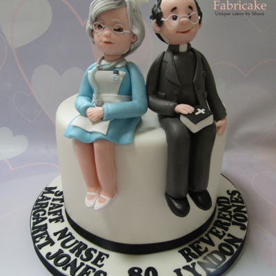 Double 80Th Birthday Cake