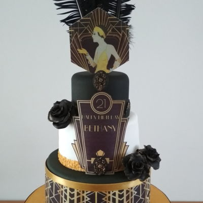Gatsby Themed 21St Birthday Cake