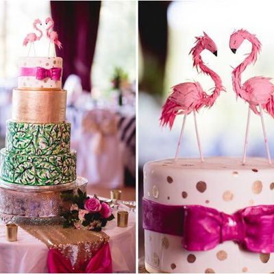 Lily Pulitzer Inspired Wedding Cake