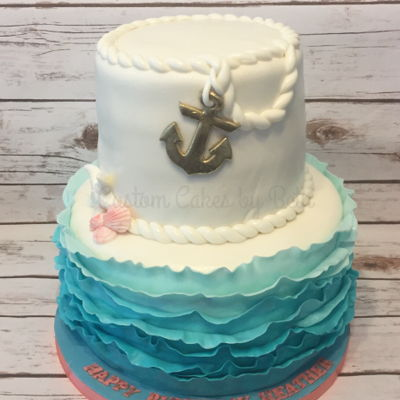 Excellent Nautical Cake Photos Personalised Birthday Cards Veneteletsinfo