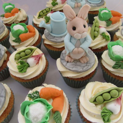 Peter Rabbit Baby Shower Cupcakes