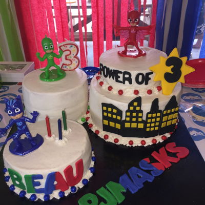 Pj Masks Cake For Beau'S 3Rd Bday PJ Masks Cake for Beau's 3rd Bday