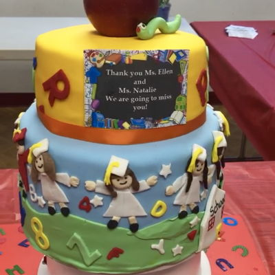 Pre-K Graduation Cake With All Students Graduating On Cake