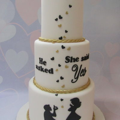 Three Tier Engagement Cake