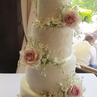 Vintage Four Tier Wedding Cake