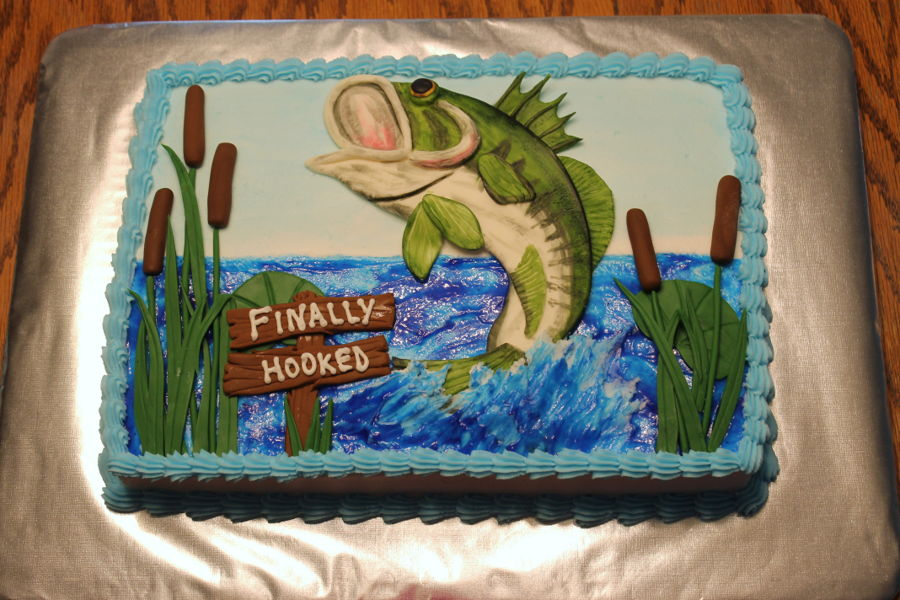 Bass Fishing Grooms Cake Cakecentral Com