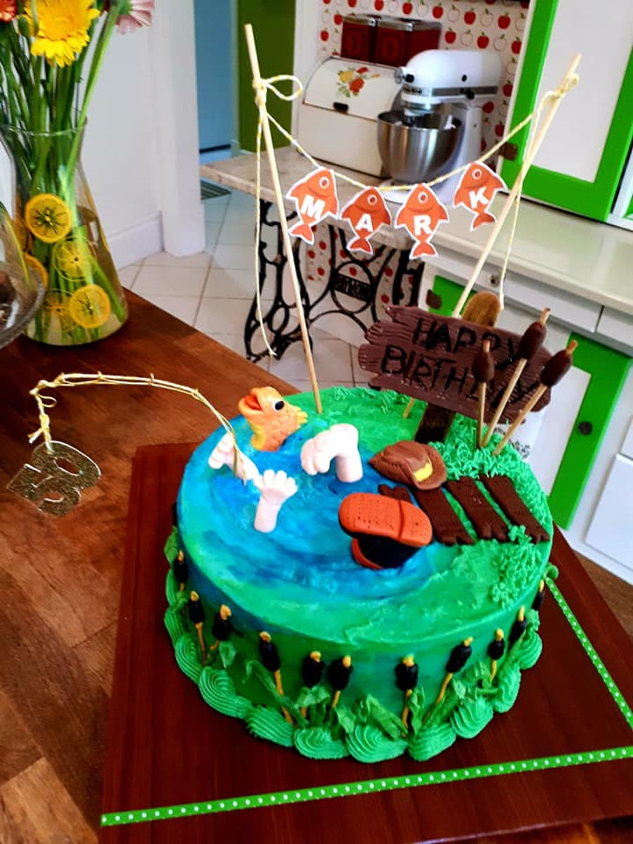 Fisherman Birthday Cake 50th Cakecentral