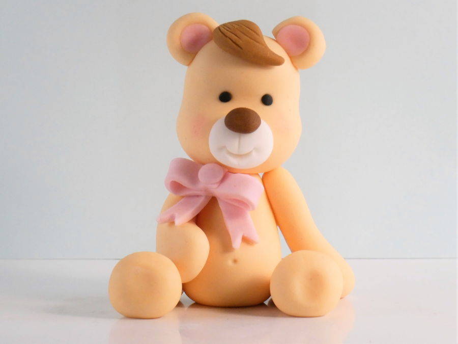Fondant Teddy Bear Cake Topper on Cake Central