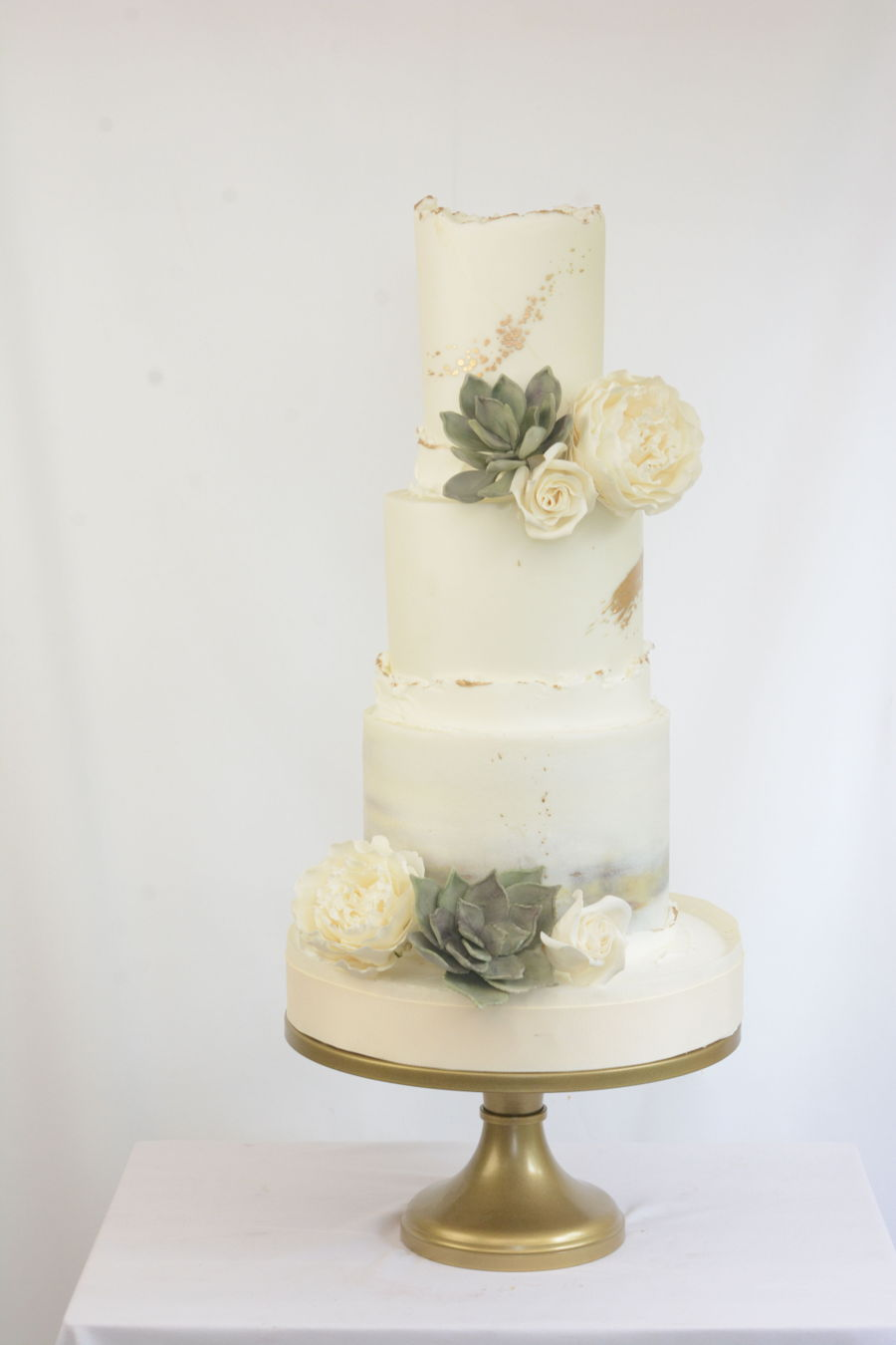 Gilded Edges And Sugar Flowers on Cake Central