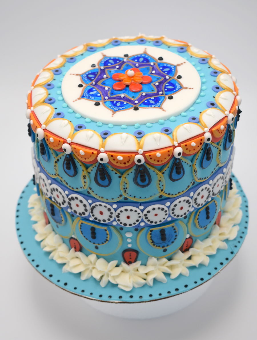Mandala Cake For Anniversary on Cake Central