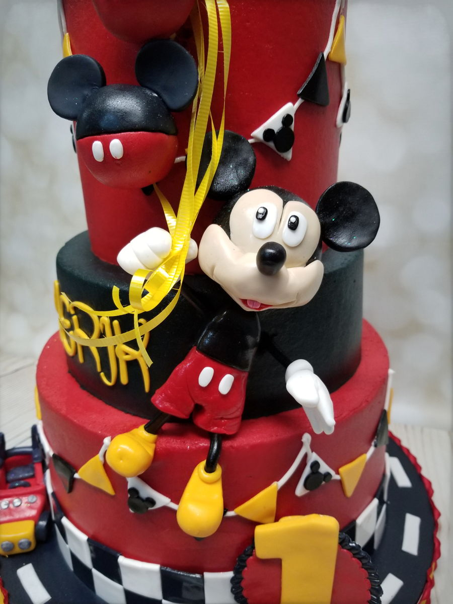 Admirable Mickey Mouse 1St Birthday Cakecentral Com Personalised Birthday Cards Veneteletsinfo