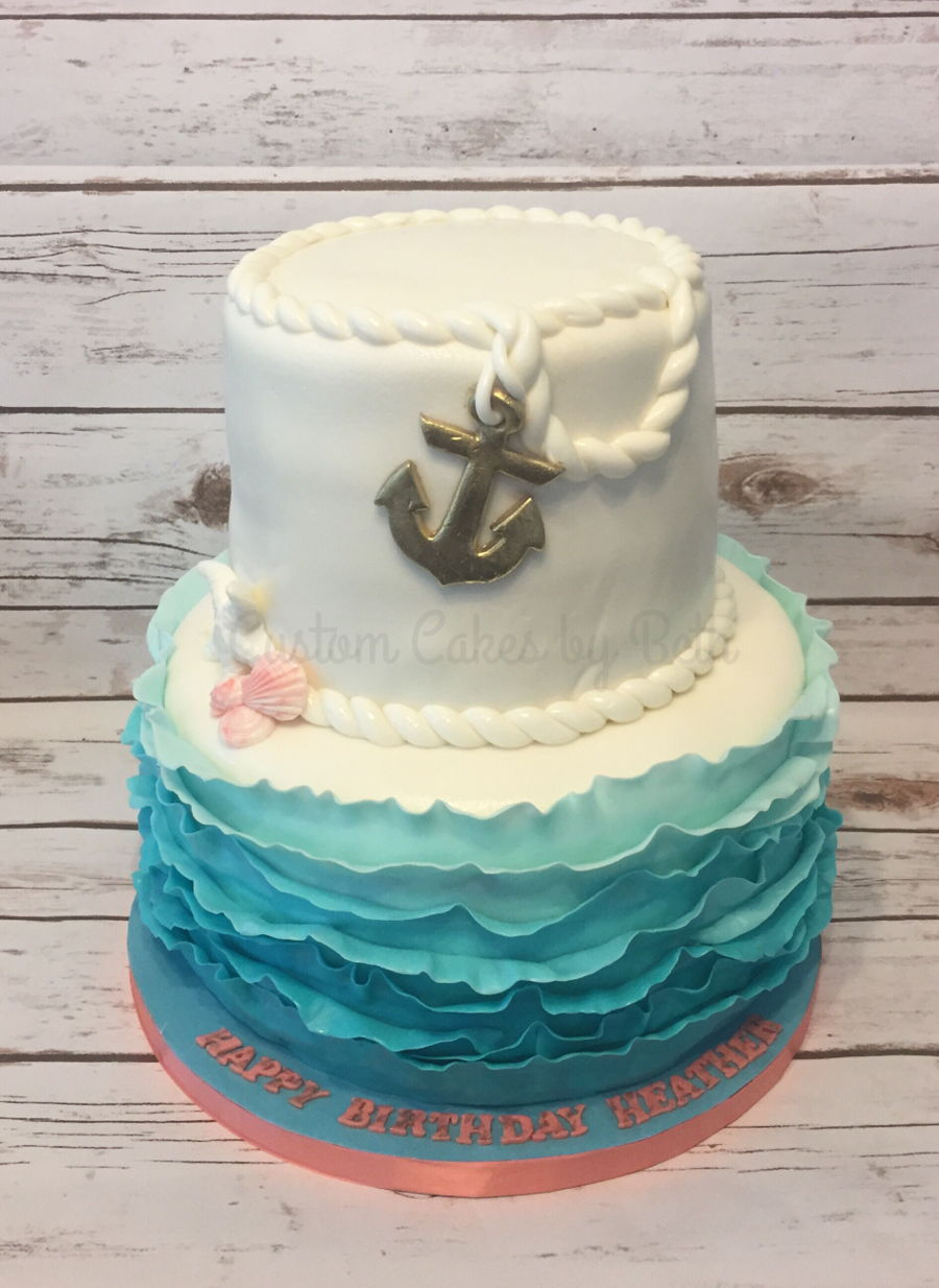 Outstanding Nautical Birthday Cake Cakecentral Com Funny Birthday Cards Online Inifodamsfinfo